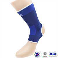 blue soft breathable Ankle Brace For Running physical therapy osteoarthritis knitted ankle support&ankle guard&ankle protector