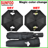 Auto open and auto closed water mark and wet apprearance magic color changing umbrellas