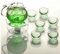 borosilikat cam demlik paslanmaz çelik demlik