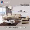 F953 1 seat and corner leather sofa with red wood office home hotel furniture leather sofa