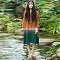 de verão venda quente pulôver de algodão plus size cor gradiente vestido para jovens senhoras