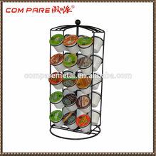 K-cup Coffee Pod Storage spinning Carousel Holder - 30 ct, Black