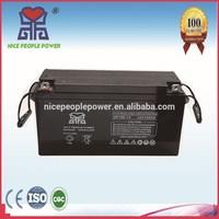 Maintenance Free solar batteries 12V150AH solar power system