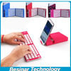 Portable Universal Folding Aluminum Bluetooth Keyboard With Stand Compatible iPad iPhone Android Tablet Windows Tablet PC