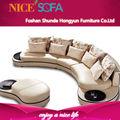 2014 vendita calda di alta qualità nuovo design moderno round divano in pelle mobili k2031r