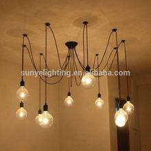 Simple Vintage Industrial antique bare bulb pendant light