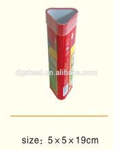 Wholesale metal printed triangle pencil tin boxes