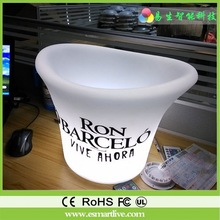 factory wholesale led ice bucket , waterproof indoor lighting barrels And remote control color/bar decoration