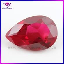 8*10mm pear ruby5# Industrial Synthetic Corundum,Created Ruby