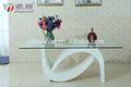 Moderna de vidrio templado mesa de comedor