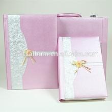 Make decorative wedding photo album and suitcase