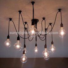 Simple Vintage Industrial antique modern silver chain lighting/chandelier
