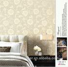 Non-woven flocked wallcovering wallpaper