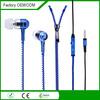 free samples factory promotion zip earphone