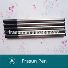 Creative Rubber Grip Red Imprint Logo Metal Ballpoint Pen Refills