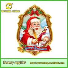 Xmas for wall window christmas sticker,new outdoor christmas decorations 2014,3D glitter christmas embellishments