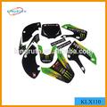monster energy gráficos branco corpo klx110 plásticos decalques adesivos pit bike