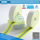 hi-vis yellow fr flame-retardant reflective fabric tape of aramid material reflective fabric