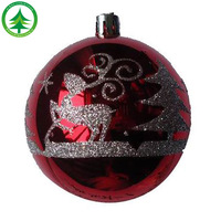 wholesale Hot Selling High-Quality 6 CM christmas plastic ball ornament,Painted frosted christmas ball Plastic Christmas Ball