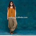 nuovo design a lungo casual in cotone 100 gamba larga pantaloni signora con tasca