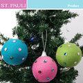 3 polegadas novidade knitting glitter decoração de natal bola dropshipping