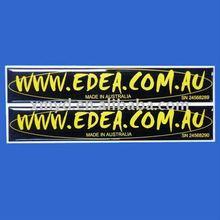Custom PU Epoxy Resin Logo Sticker