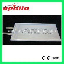 163475 3.7V 260mAh lithium battery slim as paper