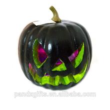Halloween color led light foam pumpkin