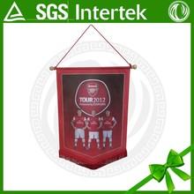 custom square football soccer pennant flag