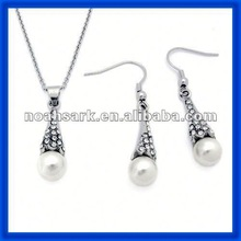 popular wholesale 2014 Stainless Steel Mother of Pearl pendant and Earring TPSS100#