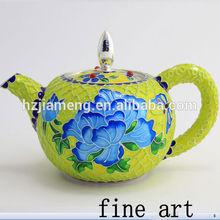 Chinese pot art ceramic bowl enamel pot