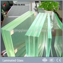 Transparent solar panel laminated glass
