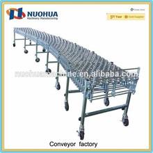 Flexible Nylon Gravity Conveyor with Skate-Wheel applied in warehouses