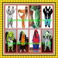 Super macio quente macacão unisex adult vestidos dos desenhos animados personagens de desenhos animados adulto do vestido extravagante para venda
