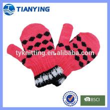 dots jacquard new design kids long sleeve mittens gloves