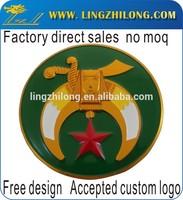 Cheap stock freemason star car emblems,masonic items,metal car badges emblems