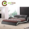 black leather fashion back for bed C303