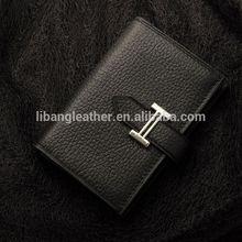 New season hot sale lady leather soft card holder