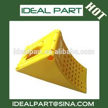 Safety plastic wheel stopper