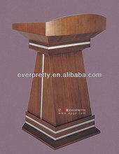 Promotion commercial front desk,design wooden rostrum,modern pulpit