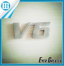 customized 3M tape chrome car badge Adhesive 3D Car Body Emblem V6 car emblem badge