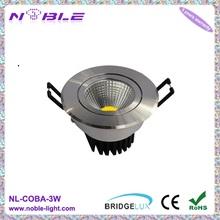 3W COB LED Downlight;Epistar 3W COB LED Downlight;3W Round COB LED Downlight Dimmable AC220V;Panited White Finish