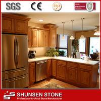 Laminated Bar Countertop Type Kitchen Cabinet Quartz Tops