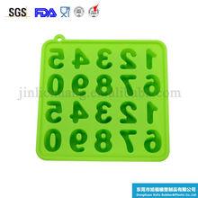 venda quente da alta qualidade de números e letras de gelo de silicone molde