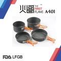 Disco de alumínio anodizado panelas LFGB FDA com punho de aço inoxidável A401