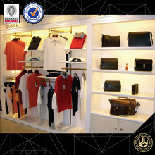 Custom luxurious fashion Stainless steel clothing store shelves display furniture