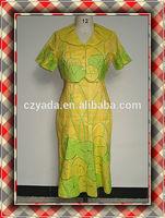 Half Sleeve Lemon Yellow Ladies Designer Dress Suits With Blouse