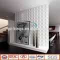 Salle de bain carreaux de mur avec pvc 3d gaufré. design pattern de gz- kings