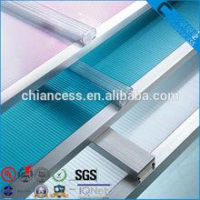 U Lock System Polycarbonate waterproof sunlight pc Sheets daylighting