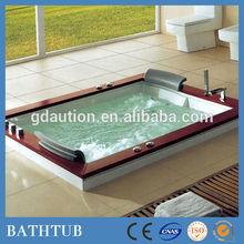 indoor double large luxury whirlpool massage bathtub 180x150